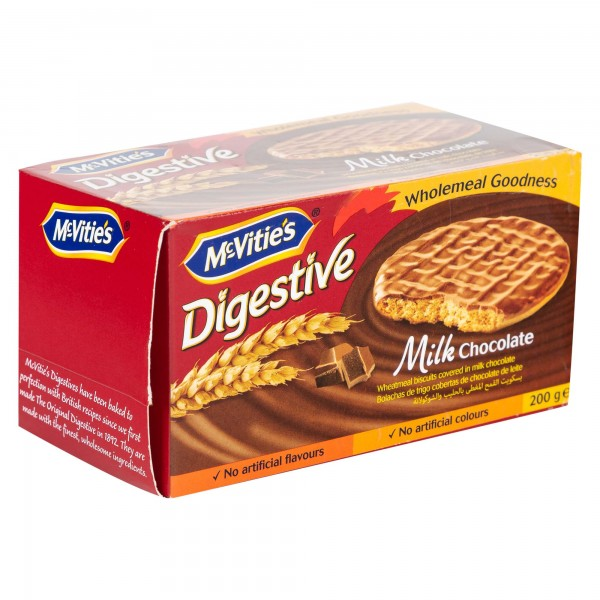Mcvitie's Digestives Original Milk Chocolate 200G 105750-V001 by McVitie's