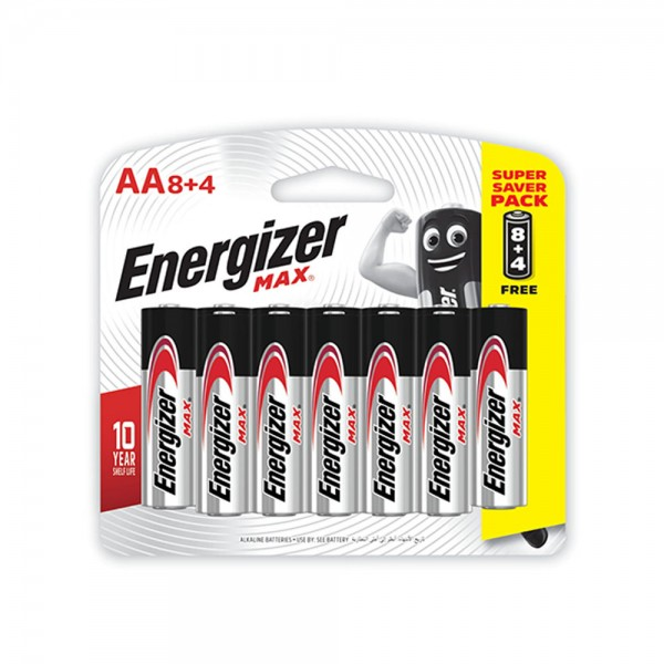 Energizer AA 8 + 4 Free 106819-V003 by Energizer