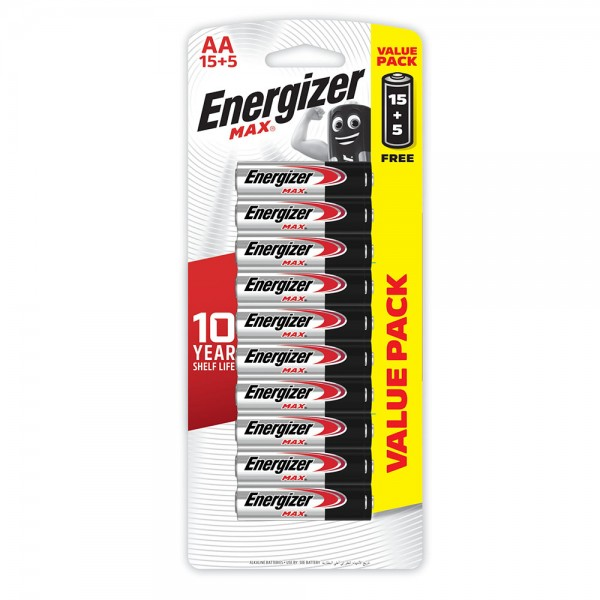 Energizer AA 15+5 FREE 106819-V008 by Energizer
