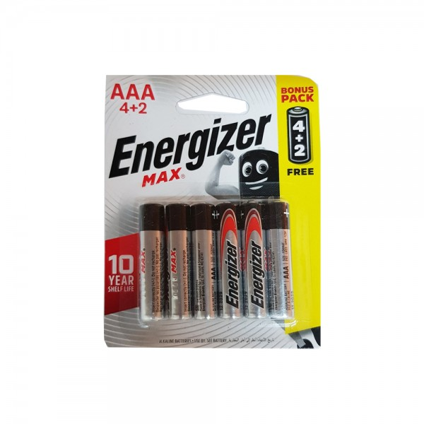 Energizer AAA 4+2 FREE 106825-V002 by Energizer