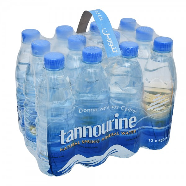 Tannourine Natural Spring Mineral Water 12x500ml 110826-V001 by Tannourine