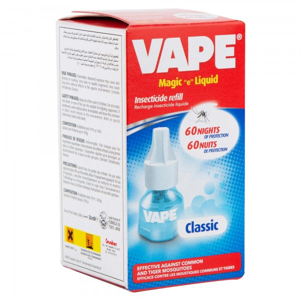 "Vape Magic ""E"" Liquid Insecticide Refill 60 Nights Classic 1 Piece 111144-V001"