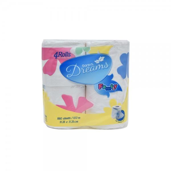 Sanita Dreams Family Toilet Tissues 4 Rolls 112795-V001 by Sanita