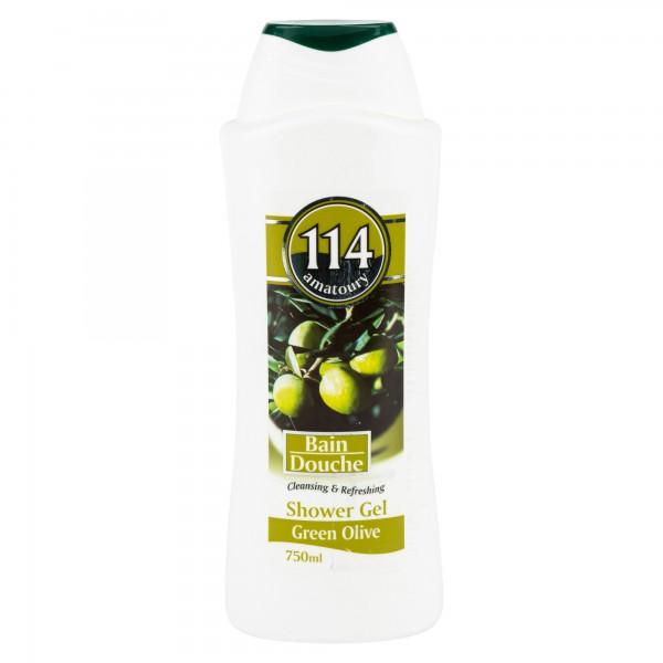 Amatoury 114 Shower Gel Green Olive 750Ml 113034-V001 by Amatoury 114