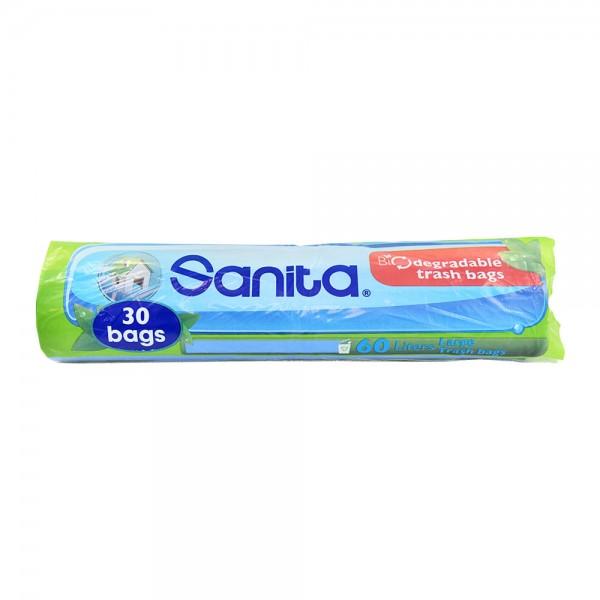 Trash Bag Biodegradable Blue 30Pc 118266-V001 by Sanita