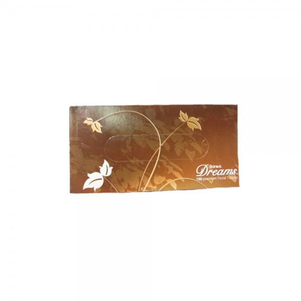 Sanita Dreams Trendy Facial Tissues 150 Sheets Per Pack 118407-V001 by Sanita