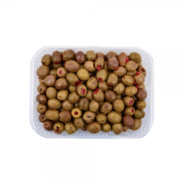 Green Olives With Sweet Pepper 120489-V001 by Spinneys Cheese Counter