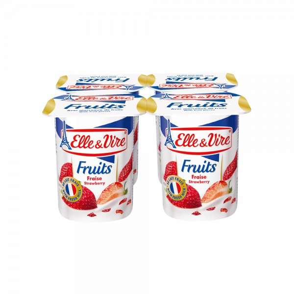 Elle & Vire Dessert Lacte Fraise 125G 120799-V001 by Elle & Vire
