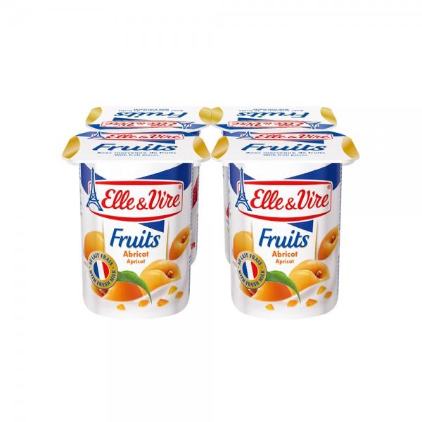 Elle & Vire Dessert Lacte Abricot 125G 120800-V001 by Elle & Vire