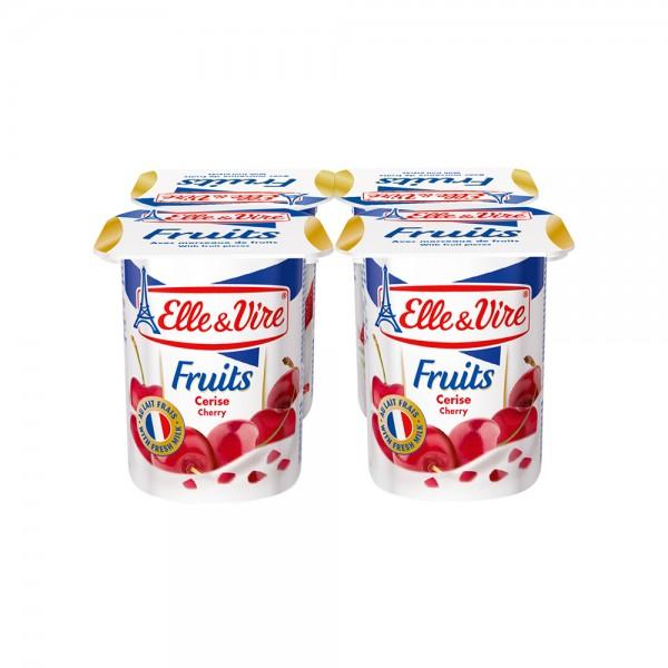 Elle & Vire Dessert Lacte Cerise 125G 120801-V001 by Elle & Vire