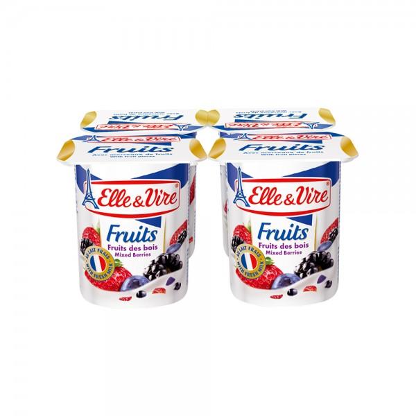 Elle & Vire Dessert Lacte Fruit Des Bois 125G 120803-V001 by Elle & Vire