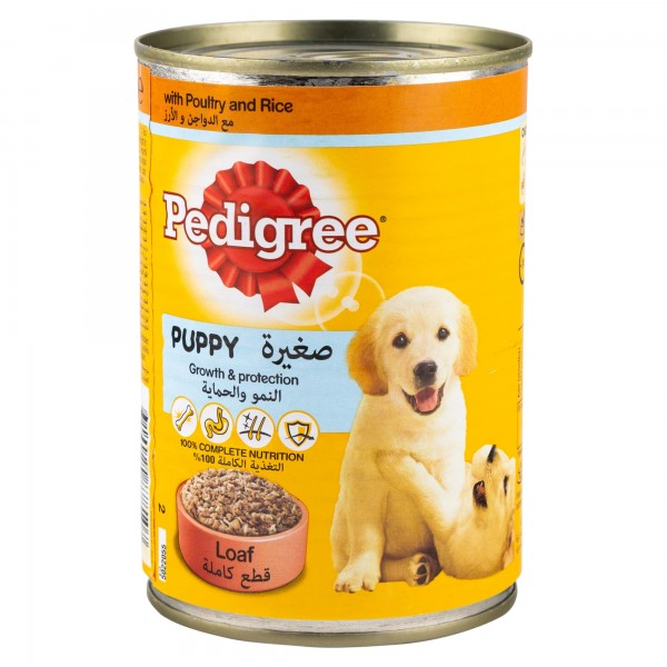 Pedigree Puppy Loaf With Poultry & Rice Can 400G - 1 121009-V001