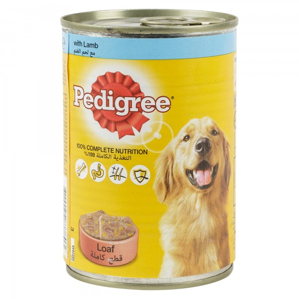 Pedigree Loaf With Lamb Can 400G 121011-V001
