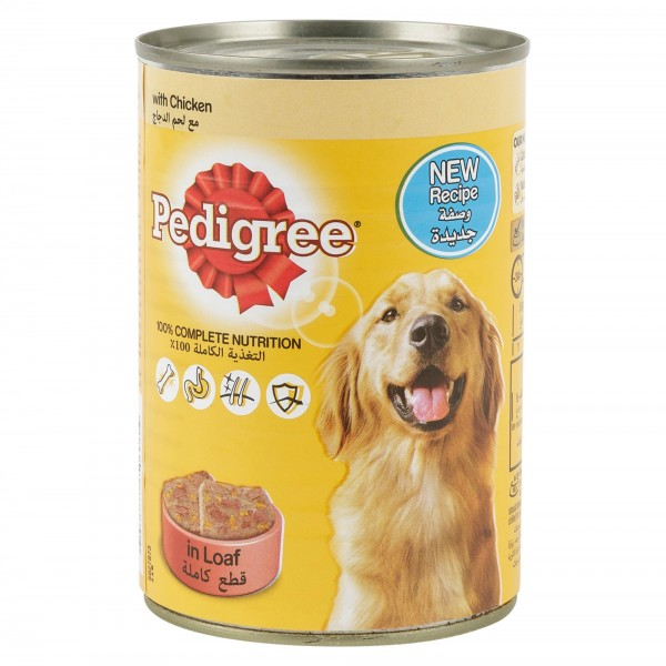Pedigree In Loaf With Chicken Can 400G 121012-V001