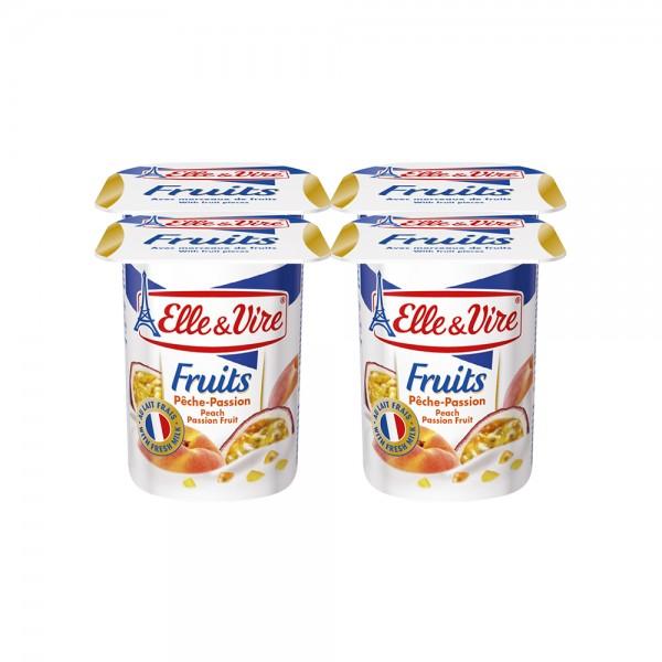 Elle & Vire Dessert Lacte Peche Passion 125G 121412-V001 by Elle & Vire