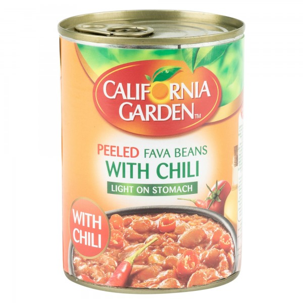 California Garden Fava Beans With Chili Canned 400G 122924-V001 by California Garden