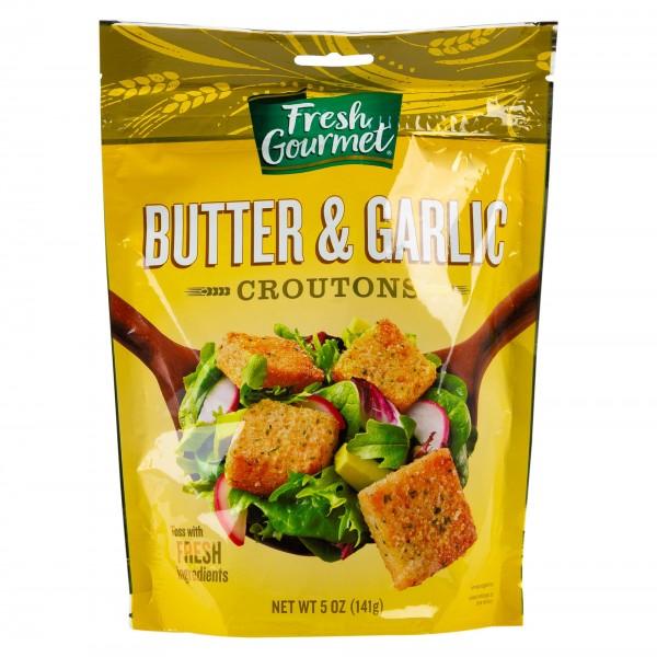 F.Gourmet Butter + Garlic Croutons 5OZ 129136-V001 by Fresh Gourmet
