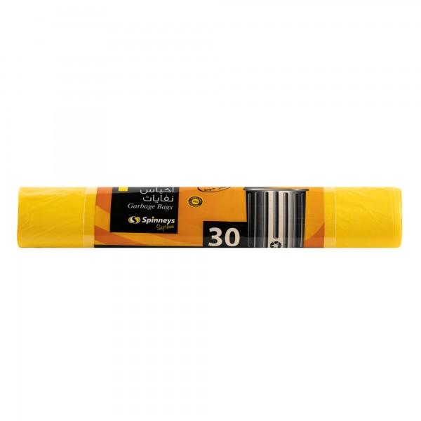 Spinneys Trash Bags Medium Yellow 30 sacks 134101-V001 by Spinneys Essentials