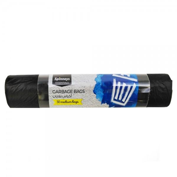 Spinneys Trash Bags Medium Black 30 sacks 134102-V001 by Spinneys Essentials