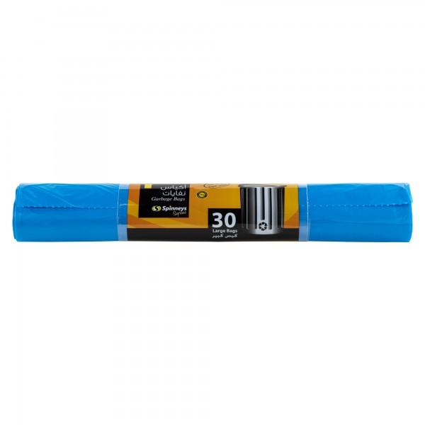 Spinneys Trash Bags Large Blue 30 Sacks 134103-V001 by Spinneys Essentials