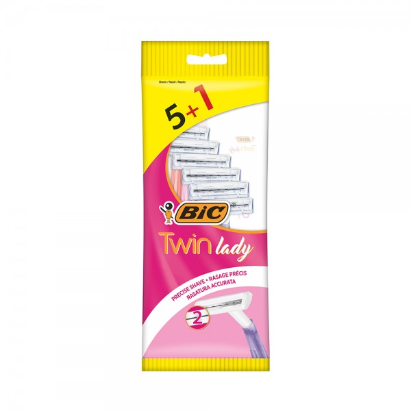 BIC Twin Lady 2-Blade Shaver For Sensitive Skin 5 Count 134260-V001 by Bic