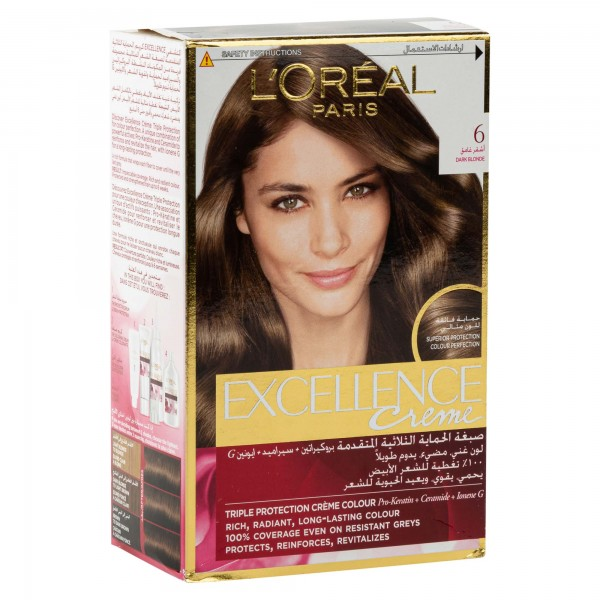 L'OREAL Paris Excellence Coloration Blond Fonce 6 1Pc 134710-V001 by L'oreal