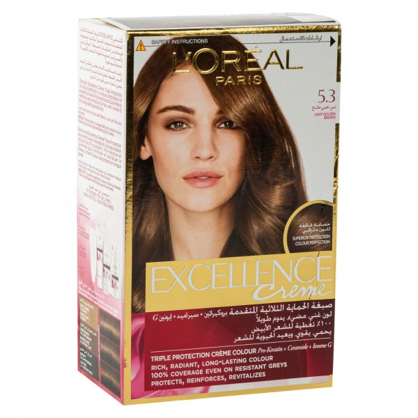 L'OREAL Paris Excellence Coloration Chatain Clair Dore 5.3 1Pc 134713-V001 by L'oreal