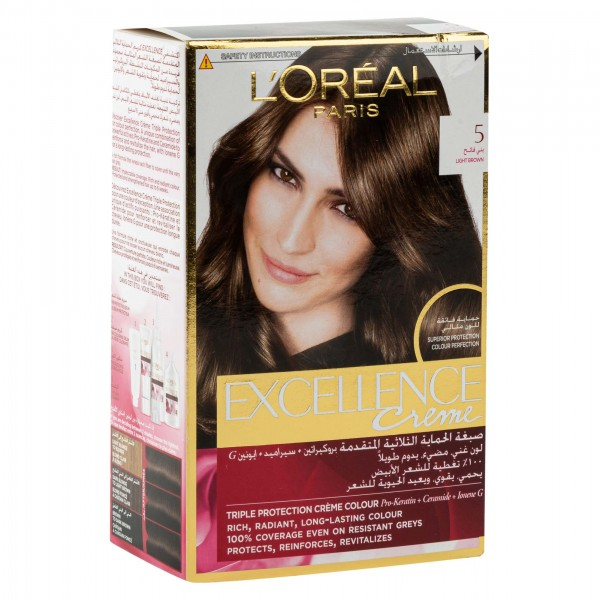L'OREAL Paris Excellence Coloration Chatain Clair 5 1Pc 134714-V001 by L'oreal