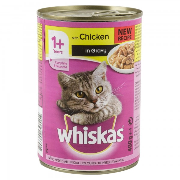 Whiskas With Chicken In Gravy Can 1+  Years 400G 136333-V001