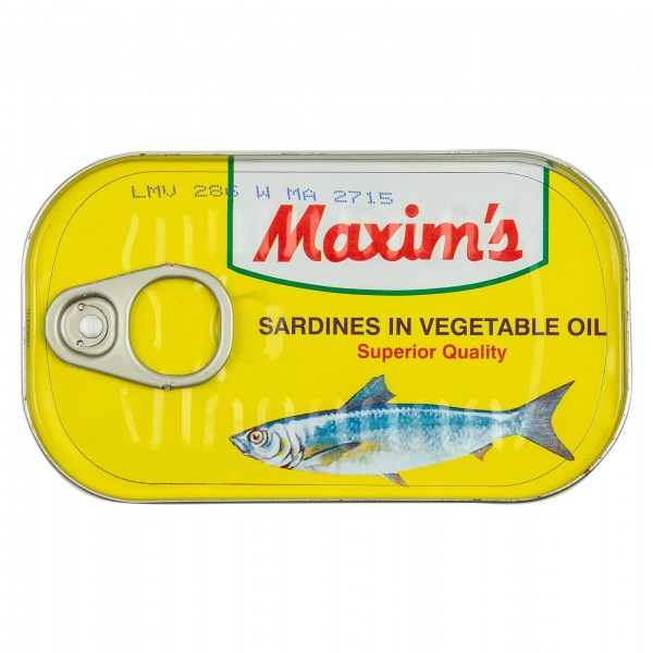 Maxim's Sardine In Vegetable Oil Canned 125G 137368-V001 by Maxim's