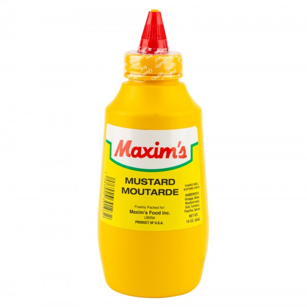 Maxim's Squeeze Mustard Bottle 16oz 137373-V001 by Maxim's