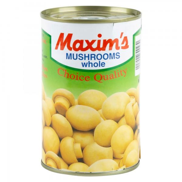 Maxim's Mushrooms Whole Tin Canned 390G 137424-V001 by Maxim's