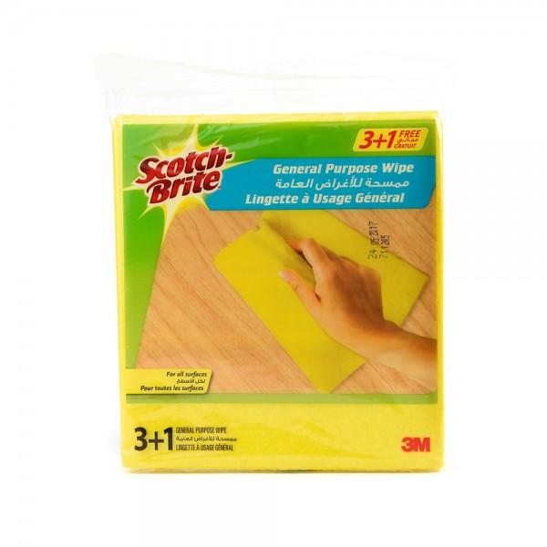 Sc.Brite Multipurpose Wipes Cloth 3+1Free - 4Pc 138464-V001 by Scotch-Brite