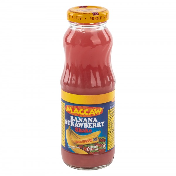Maccaw Banana Strawberry Shake 250ml 139271-V001