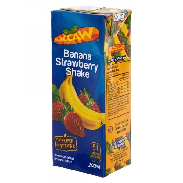 Maccaw Banana Strawberry Shake 200ml 139276-V001