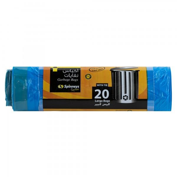 Spinneys Large Tie-Handle Blue Garbage Bags 20 Sacks 139865-V001 by Spinneys Essentials