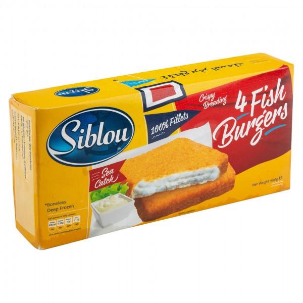Siblou Fish Burger Frozen 400G (4 Pieces) 144038-V001 by Siblou