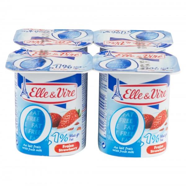 Elle & Vire Dessert Lacte Fraise Light 125G 144520-V001 by Elle & Vire