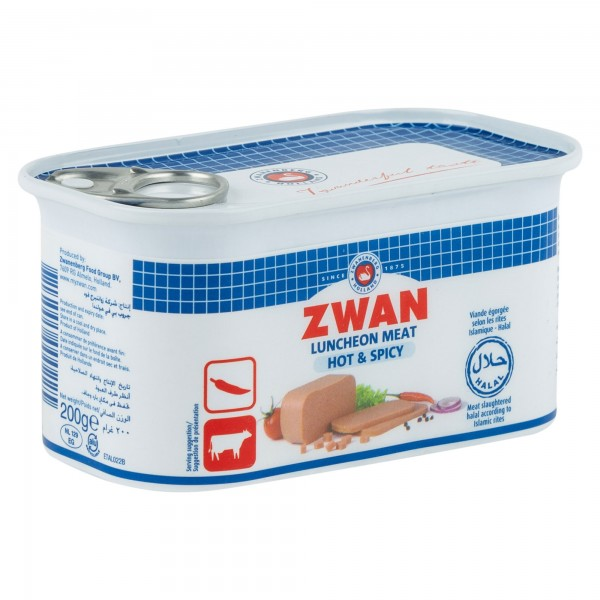 Zwan Beef Luncheon Meat Hot And Spicy 200G 147189-V001