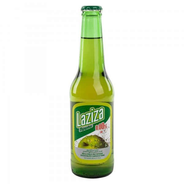 Laziza Non-epilcoholic Apple Malt Beer Bottle 33cl 147578-V001 by Laziza