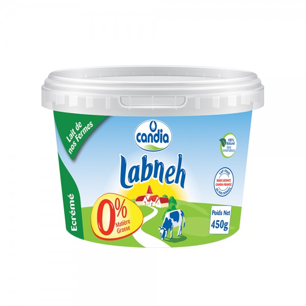 Candia Labneh 0 Matiere Grass 450g 148865-V001 by Candia