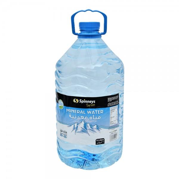 Spinneys Spring Mineral Water 6L 150187-V001 by Spinneys Food