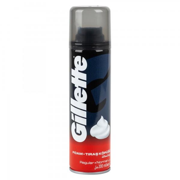 Gillette Foamy Regular Shaving Foam 200ml 161352-V001