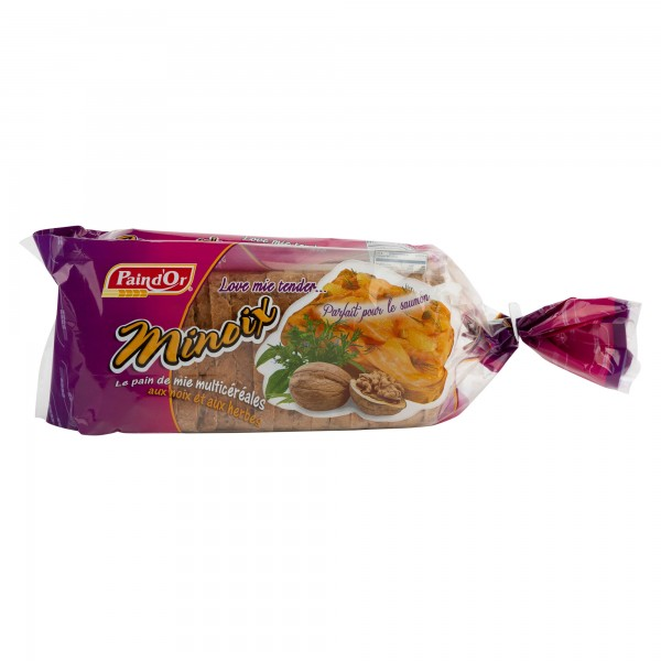 Pain D'Or Minoix Le Pain De Mie Multicereales Sliced Bread  510G 175188-V001 by Pain D'or