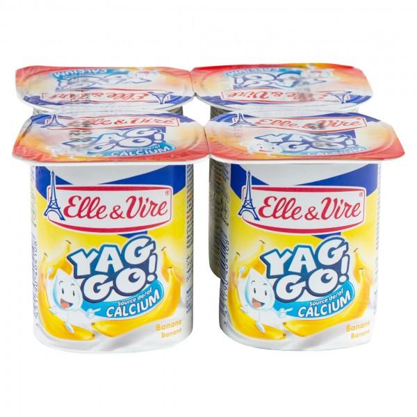 Elle & Vire Yag Go Dessert Lacte Banane 125G 182502-V001 by Elle & Vire