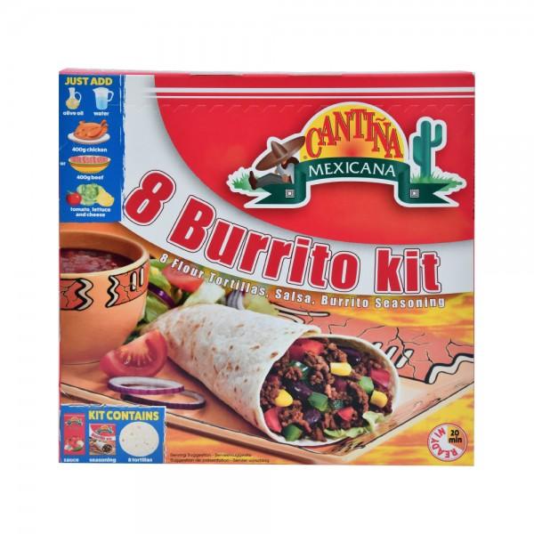 CANTINA MEXICANA Tortilla Dinners 8 Burrito Kit 525G 204369-V001 by Cantina Mexicana