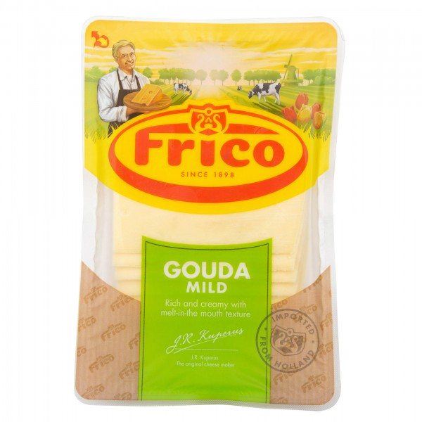 Frico Gouda Slices Mild Cheese 150G 205907-V001 by Frico