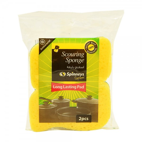 Spinneys Anti-Bacterial Curved Scouring Sponge 206967-V001 by Spinneys Essentials