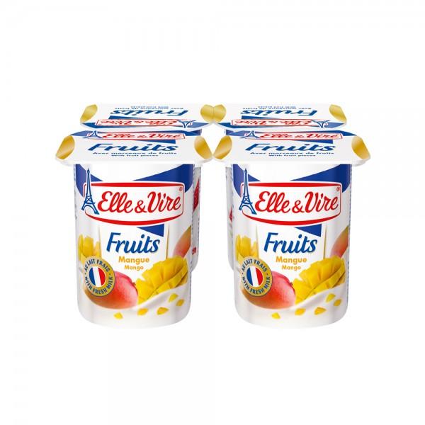 Elle & Vire Dessert Lacte Mangue 125G 211794-V001 by Elle & Vire