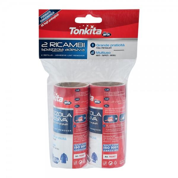 Tonkita Adhesive Lint Remover Refill 2 Pieces 213404-V001 by Tonkita